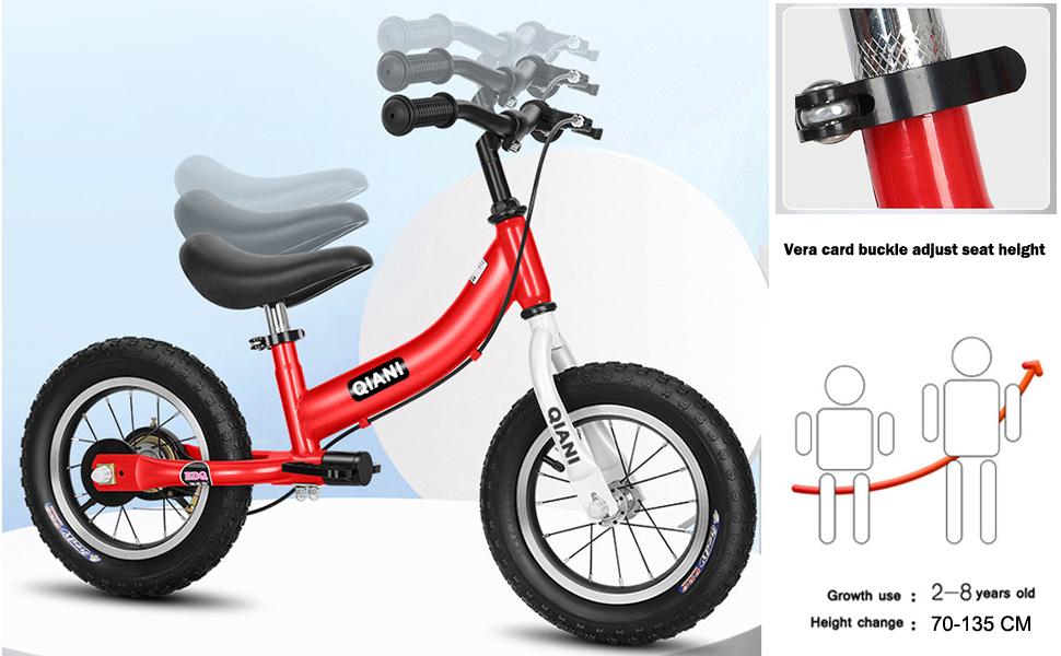seat and handle of child's bike 16 inch 4 5 6 7 8 years old balance bike