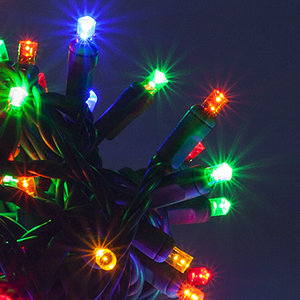 Outdoor Christmas Lights, 5MM LED String Lights, by WIntergreen LIghting