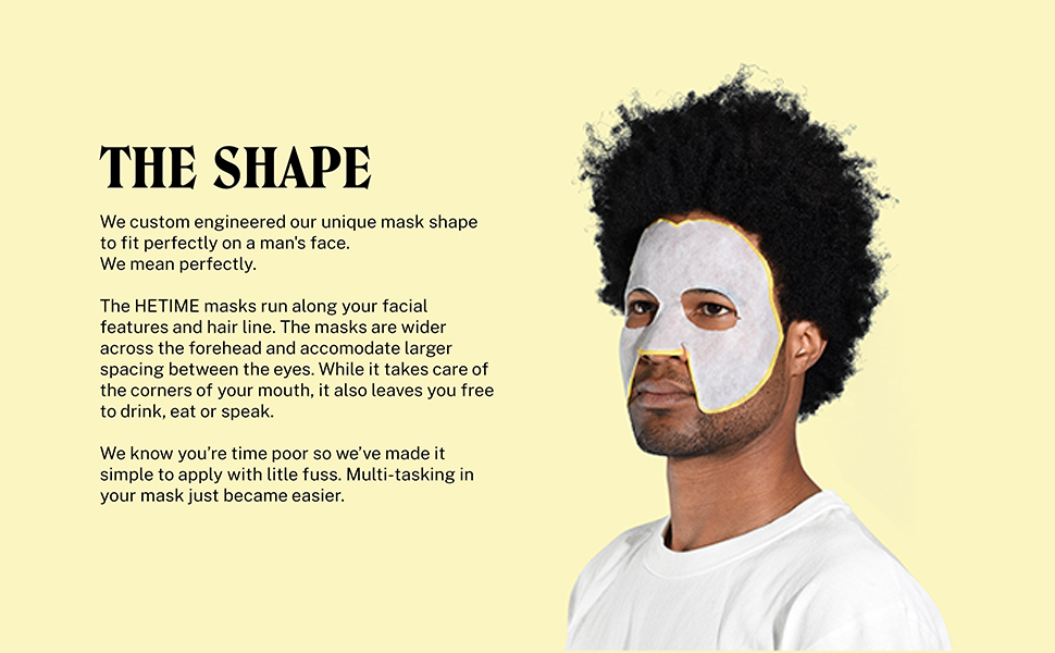 men, face mask, beauty, skincare, easy, simple, face, anti-aging, unique, shape, healthy, skin,