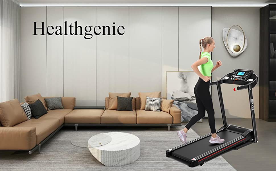 Healthgenie Electric Folding Treadmill for Home