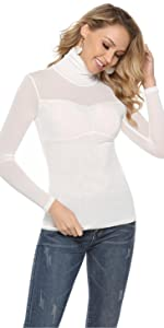 Akalnny Pull Femme Hiver Marin Col Rond Rayures Manches