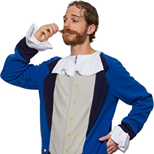 colonial king royalty Halloween Adult Unisex Cosplay Costume  Comfy Jumpsuit