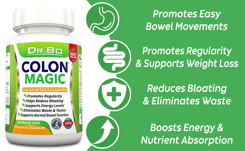 dr bo colon cleanse supplement weight loss constipation medicine help men women adults daily pill