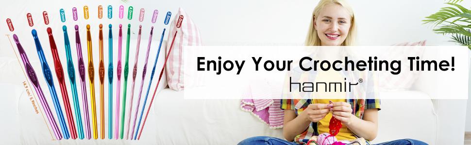Handle Aluminum Crochet Hooks Set
