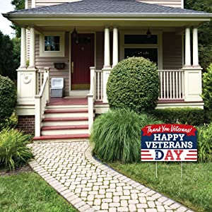 Happy Veterans Day Yard Sign