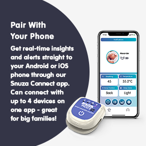 Snuza Pico 2 will pair with your phone to give you real-time insights and alerts