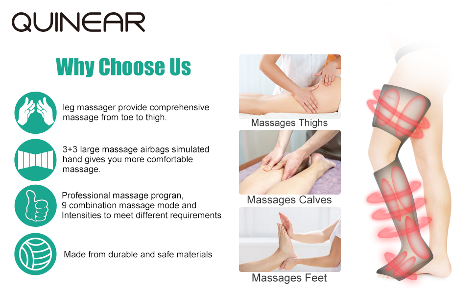 Amazon com: QUINEAR Leg Massager for Circulation Air