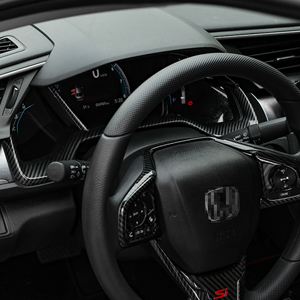 RYANSTAR RACING Panel Dial Dashboard Trim Cover Frame Compatible with Tenth Generation Honda Civic 2016 2017 2018 2019 2020