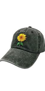 Women's Cute Sunflower Baseball Cap
