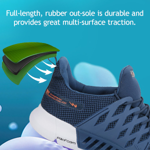 Full-Length Rubber Out Sole Is Durable Provides Great Multi Surface Traction