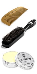 comb, brush, balm