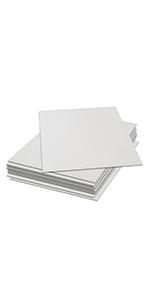 brown kraft chipboard cardboard 30pt 50pt 70pt medium weight heavy duty 8.5x11 white black