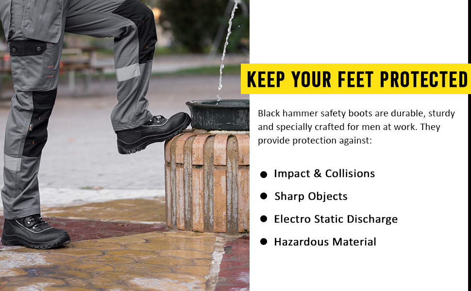 These work boots have anti static heel and slip resistant design to the higest standards work