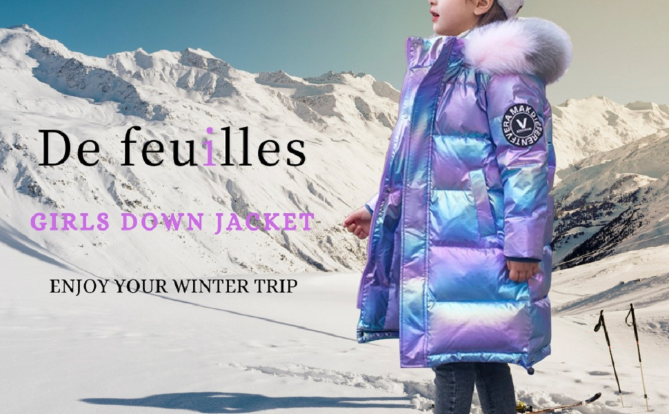 kids girls down jacket  down puffer coat
