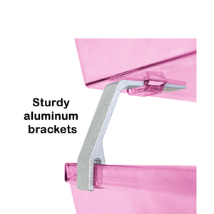 acrimet facility letter tray 2 tier front load clear pink color