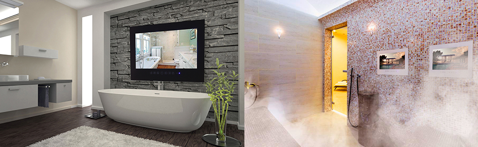 waterproof bathroom mirror tv