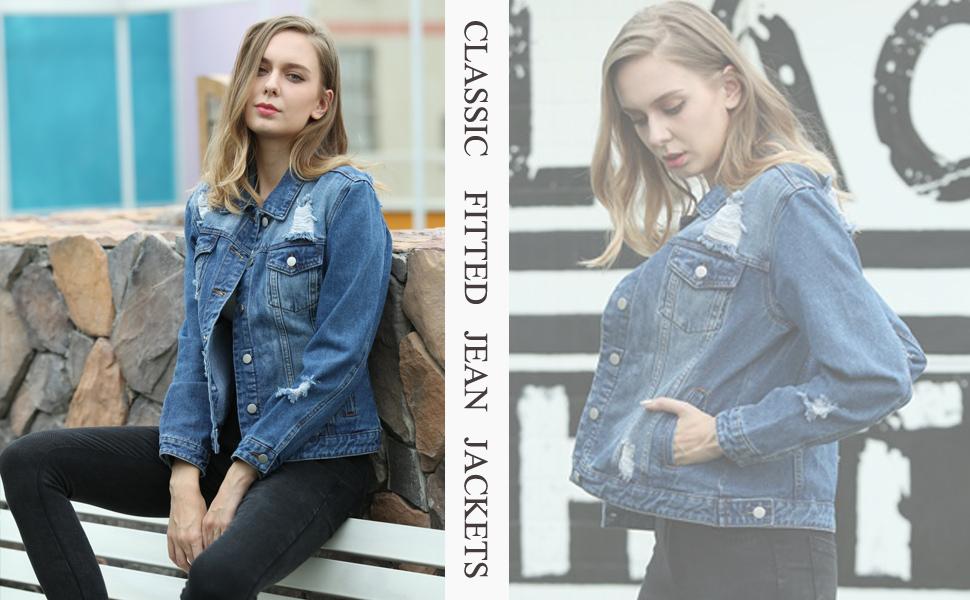 long sleeve jean jackets