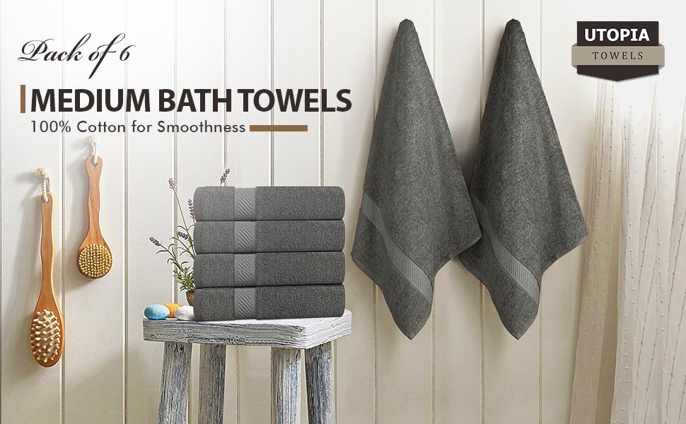 grey bath towels