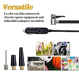 63f5481f 3613 49d7 a53d f3939b3d295d. CR0,0,1000,1000 PT0 SX300 V1 - Surwit Portable Tire Inflator Pump, DC 12V Car Tire Air Compressor, Auto Shut Off Feature, Digital LCD Display, Emergency LED Flashlight, for Car Truck Motorcycle Bicycle Tires
