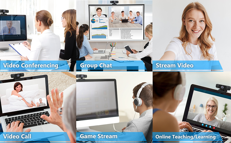 Webcam HD Computer Camera Microphone Pro Streaming Web