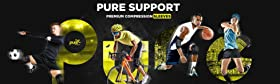 pure support knee brace sleeve compression