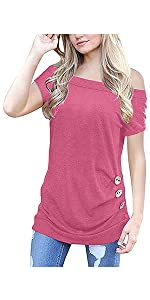 Knotted tunic tops women tshirts