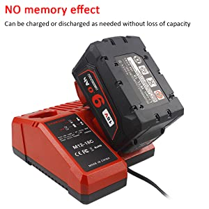 18v 6.0ah lithium-ion battery replacement for Milwaukee m18 18v cordless tools