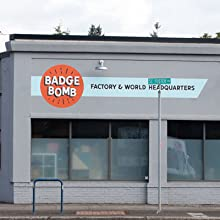 Badge Bomb factory HQ in Portland Oregon