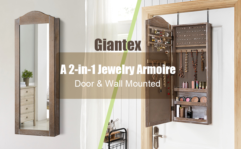 Door & Wall Mounted Jewelry Armoire