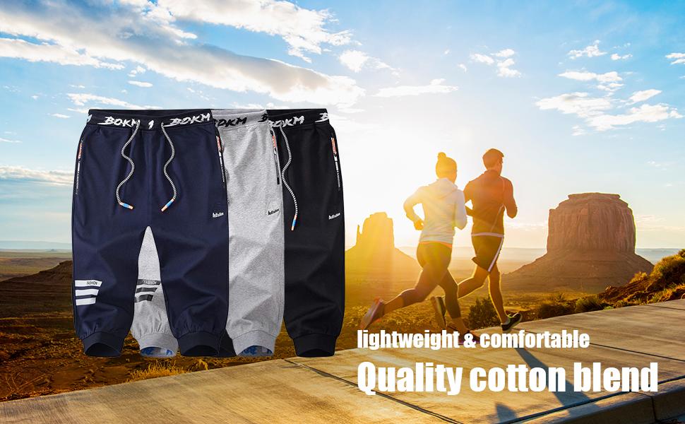 Men's 3/4 Capris Joggers Pants