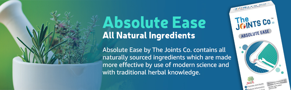 The Joints Co Absolute Ease with Glucosamine Chondroitin MSM Complex+Herbal Blend, Bones & Cartilage