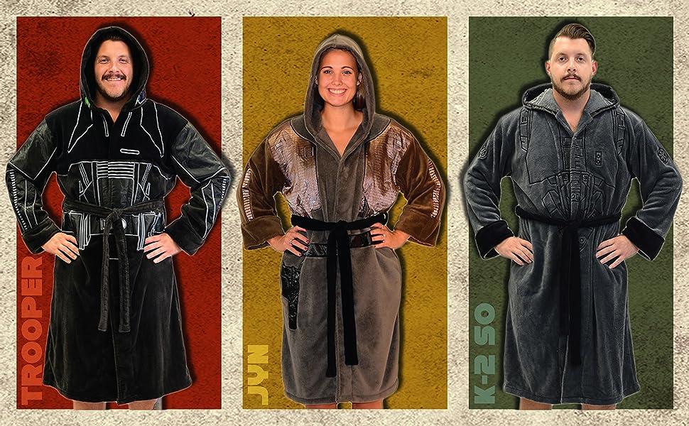 Adult Star Wars Soft Fleece Hooded Bathrobe Bath Robe Cloak Cosplay Cape fq168