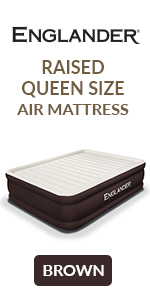 englander queen size raised luxury air bed inflatable air mattress built in pump