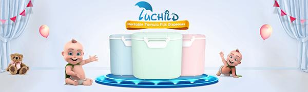 Bleu Luchild Distributeur de lait en poudre r/écipient /à lait portable Baby Bo/îte de Conservation Lait en Poudre Formule Distributeur