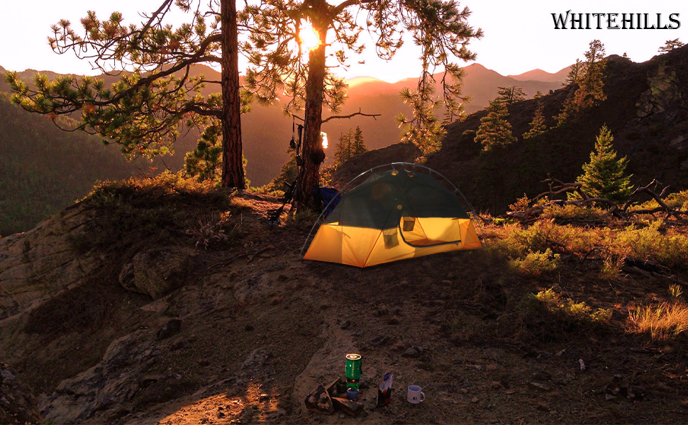 one person yellow outdoor waterproof lightweight camping tents mountain hiking backpacking tent