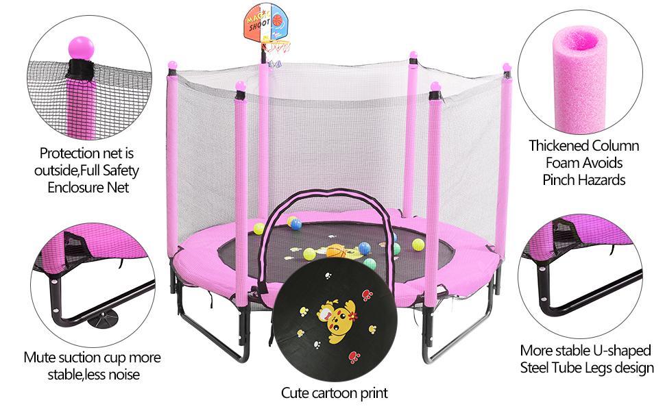 Indoor amp; outdoor trampoline for kids