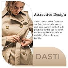 Feel London in British Classic Khaki color trench coats for women