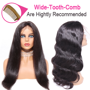 body wave wigs recommened with Wide tooth comb