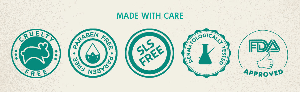 cruelty free paraben free sls free dermatologically tested fda approved