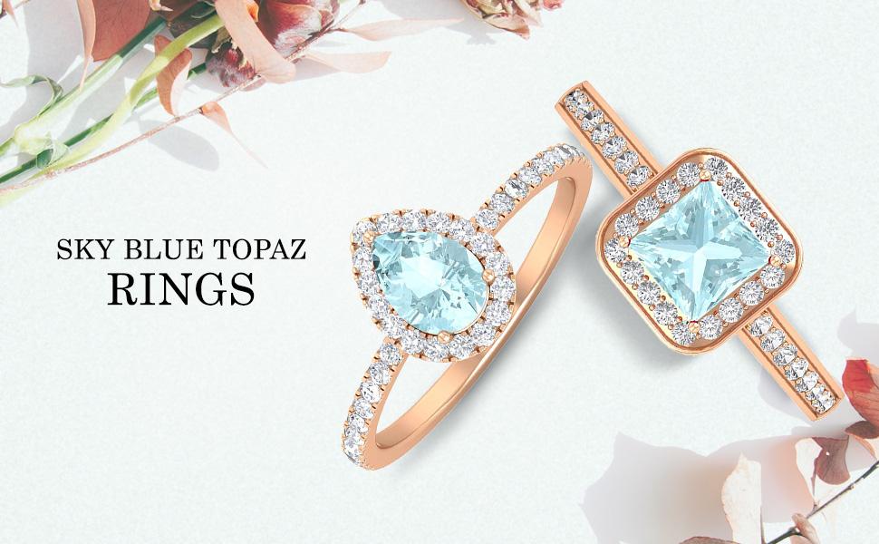 banner Sky Blue Topaz Rings