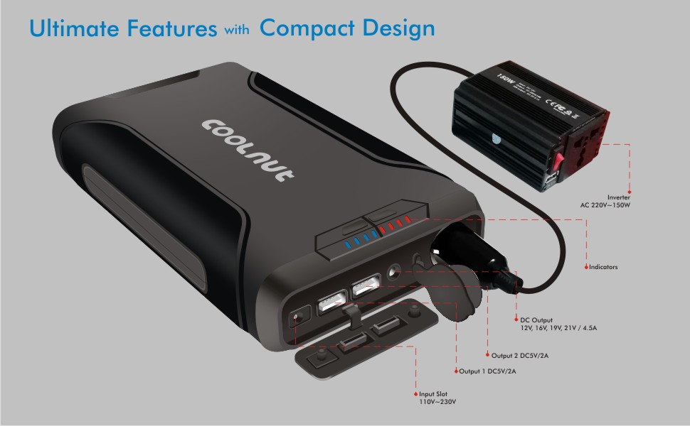 Coolnut Ultimate compact design