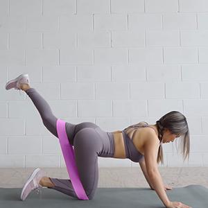 Piernas Bandas El/ásticas Musculacion Cintas Elasticas Antideslizante Tejido y Goma Fitness en Casa Gimnasio Entrenamiento Ejercicios Cadera gluteos AJOXEL Bandas de Resistencia Pilates Yoga