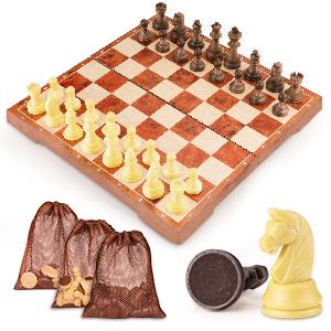 ajedrez magnetico plegable madera juego de ajedrez ajedrez niños