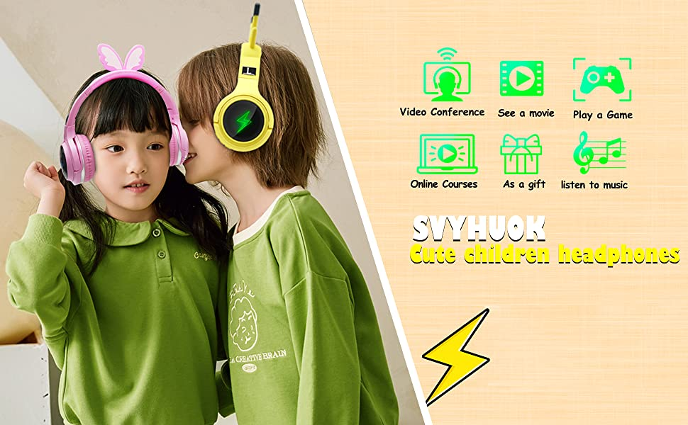 Wireless Headphones for Boys,Girls,Women,Kids,Teens Yellow