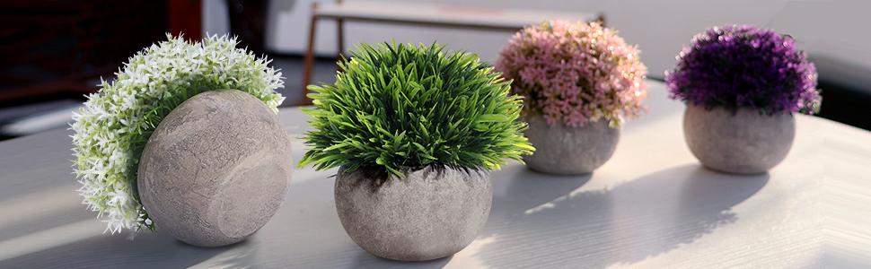 Potted Faux Fake Mini Plant