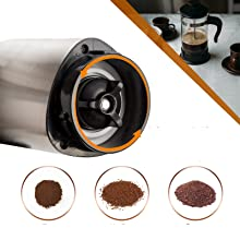 Adjustable Ceramic Burr For Fine to Coarse Grind Level