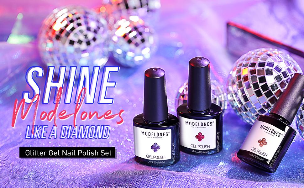 Modelones Glitter Gel Nail Polish