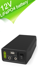 Rechargeable 153.6Wh 12.8V Lithium Iron Phosphate (LiFePO4) Battery Pack