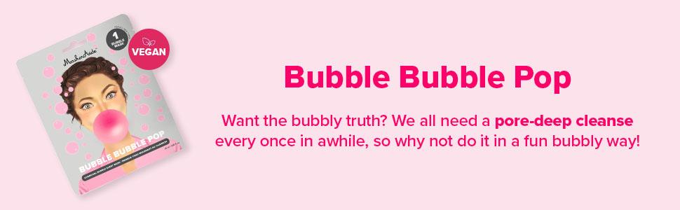 Bubble Bubble Pop Charcoal Bubble Sheet Mask