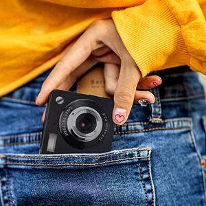 """Flashandfocus.com 643802c8-2bdc-4243-b03a-50e36496ee84.__CR0,0,300,300_PT0_SX300_V1___ AbergBest 21 Mega Pixels 2.7"""" LCD Rechargeable HD Digital Camera,Video camera Digital Students cameras,Indoor Outdoor for Adult/Seniors/Kids (Black)"""